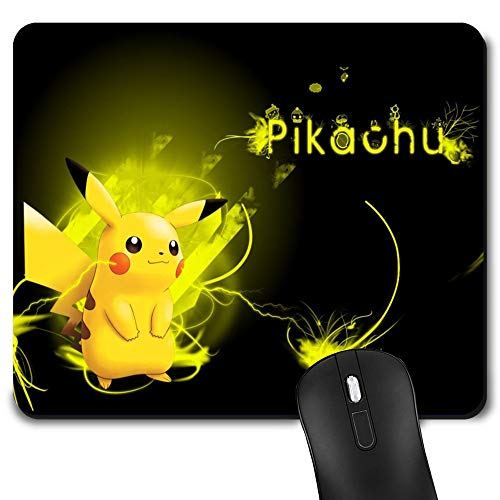 Gaming Mouse Pad Pikachu, Game Computer Mousepad for Laptop and Desktop, Cute Funny Mouse Mat for Kid and Office Gift