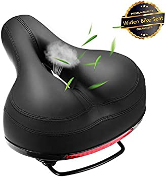 Szxsdy Memory Foam Waterproof Replacement Leather Bicycle Saddle