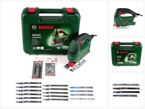 Bosch PST 670 (CT) decoupeerzaag 500W + 18x decoupeerzaagbladen + koffer