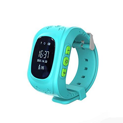 HHJ wasserdichte Kinder Smart Watch | Smartwatch| Armbanduhr | GPS,SOS, Telefon, Sprachnachrichten, Standortlokalisierung per App, Ortung, Tracker | - verwendbar mit Micro SIM Karte (Blau)