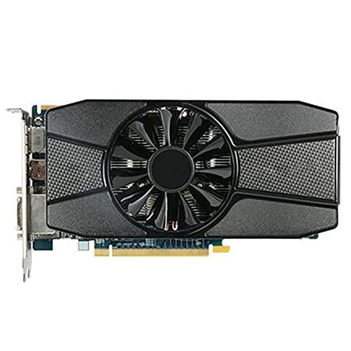SYFANG Fit for Sapphire 7770 1GB Tarjetas gráficas GPU AMD HD7770 1G GDDR5 Tarjetas de Video PC Juegos de computadora HDMI PCI-E X16