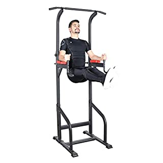 Ultrasport Power Tower, Multifunctional Weight Station for A Varied Home Workout, Power Tower and Gym Tower, Dip Station, Pull-Up Bar, Push-Up Grips, Full Body Workout, Adjustable in Size, Black (B0784MHJ7B)   Amazon price tracker / tracking, Amazon price history charts, Amazon price watches, Amazon price drop alerts