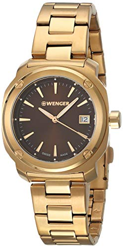 Wenger Edge Index Brown Dial Stainless Steel Ladies Watch 01.1121.105