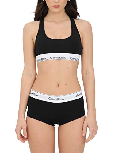 Calvin Klein Modern Cotton Unlined Bralette Sujetador Deportivo, Negro (Black 001), S para Mujer