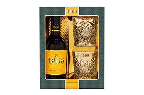 Brandy solera gran reserva D.O. Jerez 1866 70cl - estuche con 2 vasos