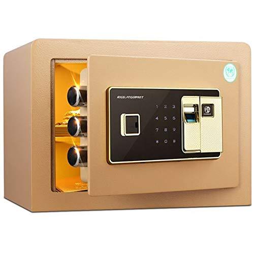 IGLZ Seguridad Digital electrónica Caja de Acero a Prueba de Fuego, y Drillproof Burglarproof Fuerte for la joyería, Documentos, Dinero, Pequeño Cajas Fuertes, de Oro