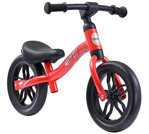 BIKESTAR 2-in-1 Bicicletta Senza Pedali Peso Leggero (3KG!) per Bambino et Bambina 2-3 Anni Bici Senza Pedali Bambini 10 Pollici Eco Rosso