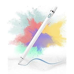 Vidence VIDEN Penne per Tablet, Penna Apple Pencil con Punta Ultra fine da 1,5 mm e Porta di Ricarica Magnetica Rame USB…
