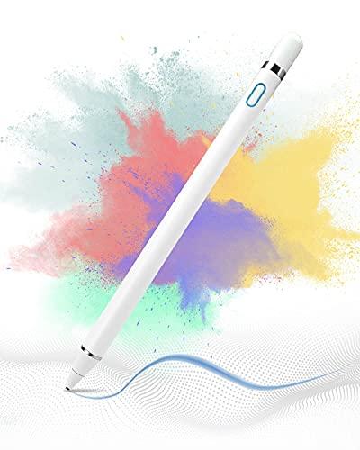 VIDEN Lapiz para Tablet, Lapiz para iPad Ultrafina de1,5 mm y Puerto con Carga Magnética, Compatible con iPad, iPhone, Tablet, Android