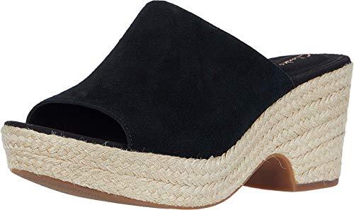 Clarks Maritsa Mule Womens Wedge Sandal, Black Suede, 6