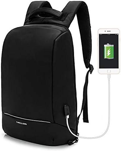 KINGSLONG Lightweight Laptop Backpack USB Port 15 6 Inch Business Work Bag Slim product image