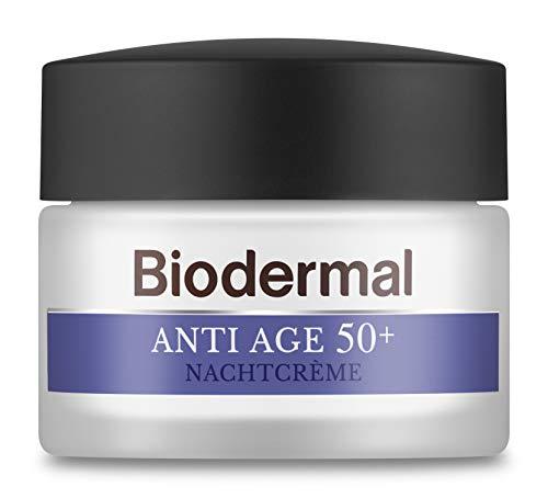 Biodermal Anti Age 50+ - Nachtcrème tegen huidveroudering - Deze nachtcreme helpt de vorming van eerste rimpels te vertragen - 50 ml