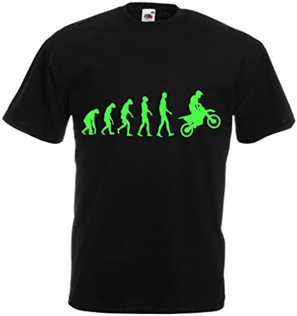 Camisetas Hombre Evolución del Motocross Equipo de Moto Ropa de Carreras Todoterreno