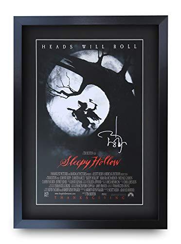 HWC Trading Sleepy Hollow A3 Gerahmte Signiert Gedruckt Autogramme Bild Druck-Fotoanzeige Geschenk Für Johnny Depp Filmplakat Fans