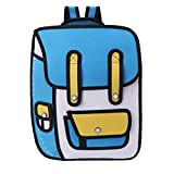 W-FIGHT 3D Jump Style 2D Drawing From Cartoon Paper Backpack Shoulder Bag Comic Bookbag