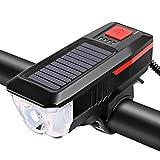 Sidougeri Luces solares para bicicleta, luz solar para bicicleta de bicicleta luces delanteras de...
