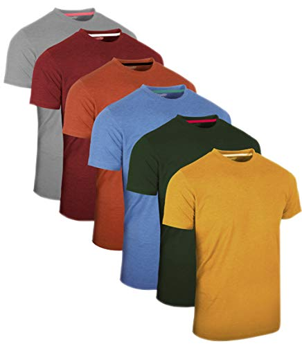 FULL TIME SPORTS® 3 4 6 Paquete Assorted Langarm-, Kurzarm Casual Top Multi Pack Rundhals Camisetas (Medium, 6 Pack - Pastels Assorted)