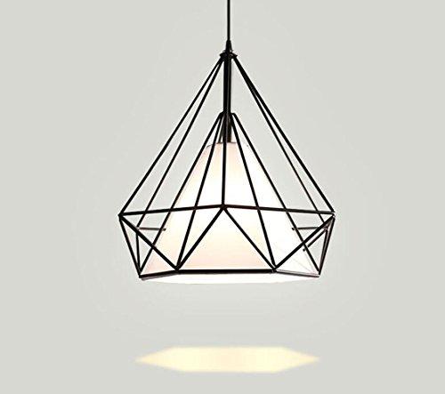 Moderne Plafonnier Lustre Lumière Lustre pour Salon, Salle À Manger Hôtel et Restaurant Abat-Jour Suspendus Décoration Lampe, Noir (taille : L)
