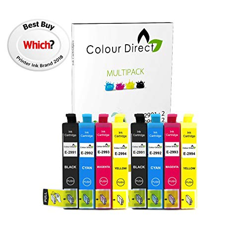 Colour Direct - 2 Sets - 29XL Remplacement XP-235 XP-245 XP-247 XP-255 XP-257 XP-332 XP-335 XP-342 XP-345 XP-352 XP-355 XP-432 XP-435 ( 8 pcs )