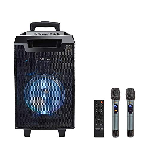 VeGue Karaoke Machine for Kids and Adults, Portable PA Speaker System with 8