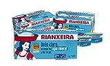 RIANXEIRA. Pack de 16 latas x 65g. de Atún Claro al natural con un toque de Agua Mineral y Flor de...
