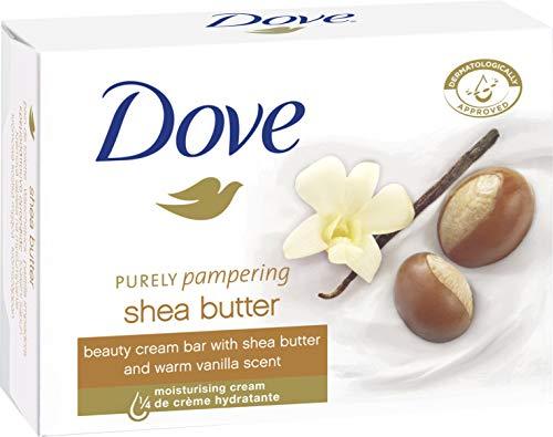 Dove Waschstück Beauty Cream Bar mit Sheabutter , Vanille und  ¼ Feuchtigkeitscreme und milden Reinigungssubstanzen für die tägliche Anwendung, 1er Pack(1 x 100 g)