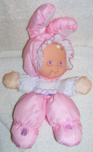 1991 Fisher Price Puffalumps 12' Pink Easter Puffalump Kid Dressed as Bunny