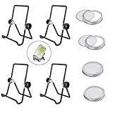 Sprouting Lids, Mason Jar Lids 4 Pack, Sprouting Jar Stands 4 Pack, Mason Jar Sprouting Kit, Canning Jars Holder for Sprouting, Stainless Steel Screen, Sprouting Stands Foldable Adjustable
