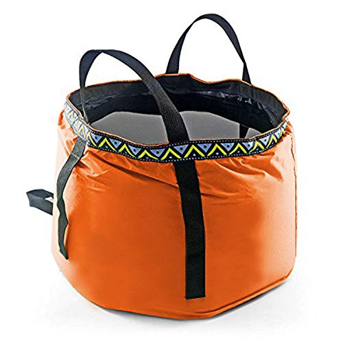 12L Portable Folding Wash Basin, Lightweight and Durable Compact Collapsible Foldable Water Bucket Container for Camping Hiking Fishing Travelling etc.