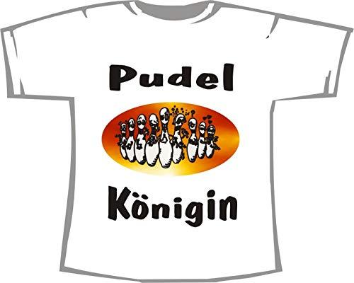 Pudel Königin; Kegeln T-Shirt weiß, 36/38; Gr. S; Damen
