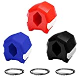 Jaw Exerciser VEBUNI Define Jawline - Jawline Exerciser - Reduces Cravings and Stress, Chisel Chin, Slim and Tone Your Face For Men And Women, 3 Resistance Levels 40, 50, 60 lbs 3 pcs Restore Young Age Face