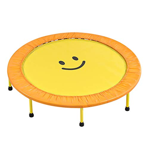 HYM Mini Trampoline, 40/48/60 Inch Round Fitness Trampoline Jumping for Children Over 2 Years Old Easy to Store Very Springy(Size:40 inch)