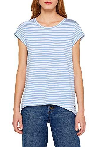edc by ESPRIT Damen 059Cc1K003 T-Shirt, Blau (Light Blue 440), Small (Herstellergröße: S)