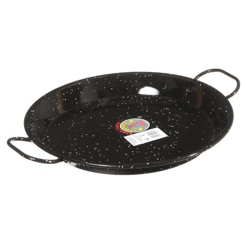Garcima 12-Inch Enameled Steel Paella Pan, 30 cm, Small, Black