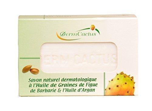 Savon Naturel Dermatologique Anti Taches Brunes / Anti Rides / Anti Cernes à l'Huile de Graines de Figue de barbarie et à l'Huile d'Argan Pure et bio, 100g