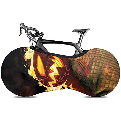 Funda para Bicicleta,Cubiertas De Rueda De Bicicleta Premium Calavera Ghost Rider Skull para Bicicletas De Montaña O Carretera