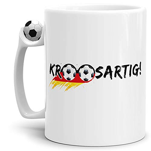 WM-Tasse Kroosartig passend zur Fussball-Weltmeisterschaft 2018 in Russland/Toni Kroos/Tor/Mug/Kaffeetasse - Qualität Made in Germany Fussball-Tasse