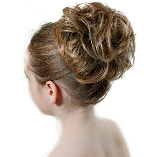Dodoing Curly Messy Hair Bun Extension Ponytail Hairpiece Hair Extensions Donut Hair Chignons Hair Piece Wig 31 Colors