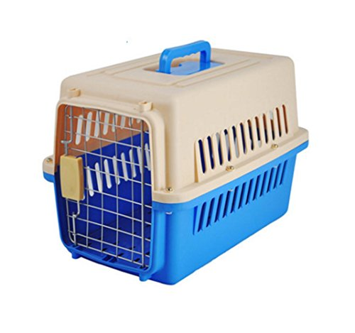 OOFWY Pet Box / Portable Travel Suitcase / Cat And Dog Transport Aviation Box /Big Code There Are Wheels / Pet Nest / ABS Resin Material , B-2