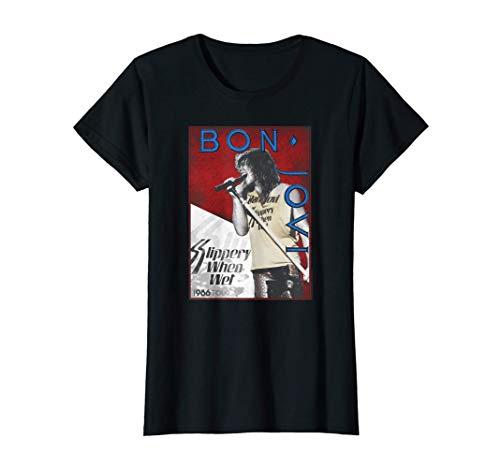 Women's Bon Jovi 1986 Tour T-Shirt in 4 Colors