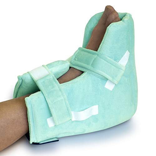 NYOrtho Boot Heel ProtectorCushion -Pressure Relieving Pillow Boot with Suspension Boot Antimicrobial Fabric Zero-G Boot™| Free Removable Heating/Cooling Gel Pack Included| Average Adult