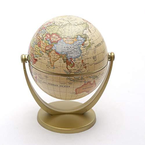 NLLeZ 1 stück Vintage Podest English Edition Globus Weltkarten Dekoration Erdkugel mit Gold Base Geographie terrestrische Tellur