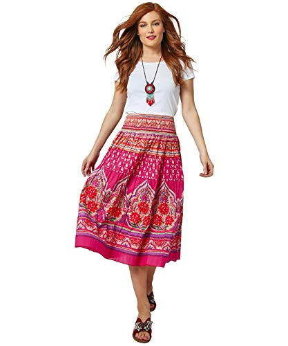 Joe Browns Damen Sassy Siesta Skirt Rock, A-Pink Multi, 36