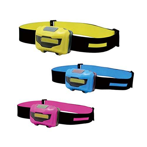 NORYER Torcia da testa (3 pezzi) super luminosa con 3 modalità, leggera COB per bambini, corsa, campeggio, pesca, ciclismo, riparazione auto, 120 lumen