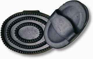 KINDER Pferdestriegel STRIEGEL Gummi OVAL Gummistriegel GLITTERDESIGN ca.12 cm