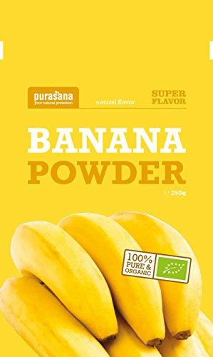 Purasana Bananenpulver Bio 250g - aromatisch, intensiv, süßer Bananenzucker