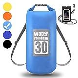WIN.MAX Wasserdichte Wasserdichter Packsack mit Handybeutel, Hellblau, 15L
