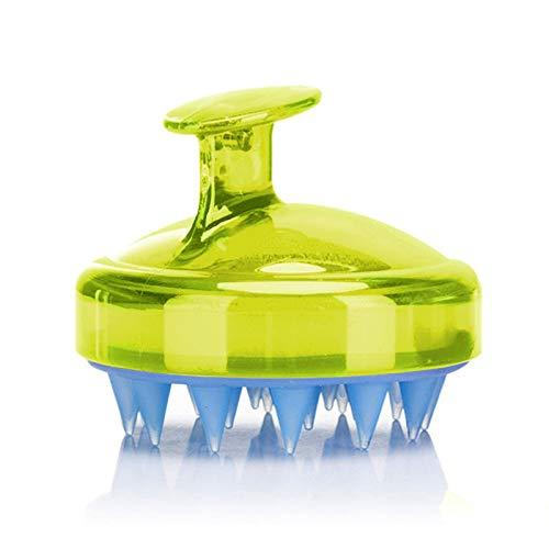 Hair Scalp Massager, SILISCRUB-Original Soft Silicone Shampoo Brush Head Tourmaline Contained (Yellow)