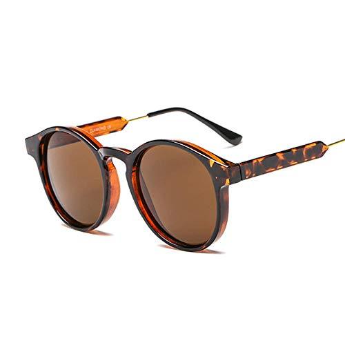 DLSM Gafas de Sol Gafas de Sol Femenino Vintage Retro Hembra clásico Negro Espejo Sexy Leopardo Gafas de Sol Pesca conducción de Golf montañismo-Leopardo