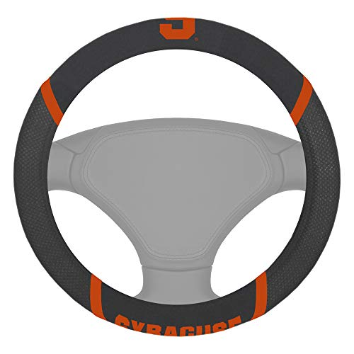 Capa para volante FANMATS NCAA Syracuse laranja Coversteering Wheel Cover, Cores do time, Tamanho único